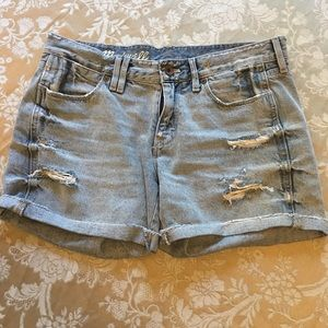 [Madewell] Distressed Shorts